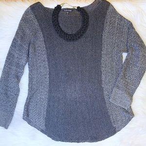 Eileen Fisher Gray Knit Sweater